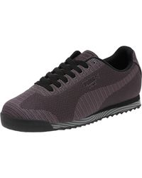 PUMA | Black Roma Woven Print Men's Sneakers for Men | Lyst