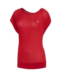PUMA - Red Burnout Layer T-shirt - Lyst