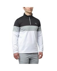 PUMA | Multicolor Pwrwarm Quarter-zip Golf Popover for Men | Lyst