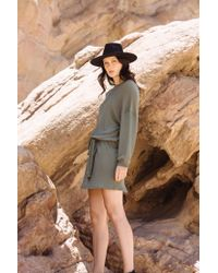 Rachel Pally - Green Pique Slouchy Belted Dress- Olive - Lyst