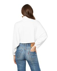 Rachel Pally - White Luxe Rib Cropped Turtleneck Top - Ivory - Lyst