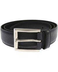Prada - Blue Belts for Men - Lyst