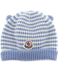 df10a323eee Lyst - Moncler Baby Hats For Boys On Sale in Blue for Men