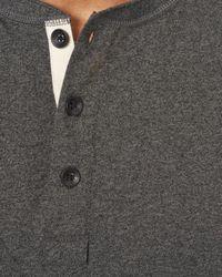 Rag & Bone - Blue Long Sleeve Classic Henley for Men - Lyst