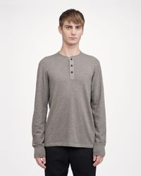 Rag & Bone | Green Classic Henley for Men | Lyst