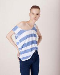 Rag & Bone | Blue Washed Stripe Tank | Lyst