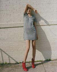 Rag & Bone | Gray Raglan Dress Striped | Lyst