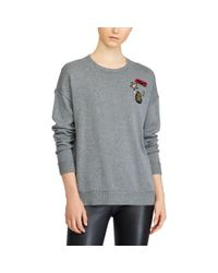 Ralph Lauren - Gray Lauren Embellished Crewneck Sweater - Lyst