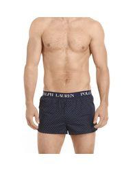 Polo Ralph Lauren - Blue Stretch Cotton Boxer for Men - Lyst
