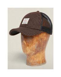 RRL - Brown Wool-cotton Trucker Hat for Men - Lyst