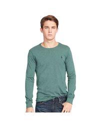 Polo Ralph Lauren | Green Custom-fit Long-sleeve T-shirt for Men | Lyst