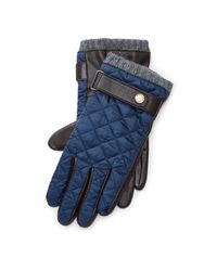 Lyst Polo Ralph Lauren Diamond Quilted Field Gloves In Blue