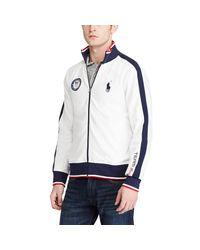 Polo Ralph Lauren | White Team Usa Track Jacket for Men | Lyst