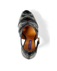 Ralph Lauren - Black Valeta Calfskin Sandal - Lyst