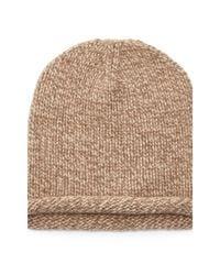 Polo Ralph Lauren | Natural Knit Cashmere Rolled-brim Cap | Lyst