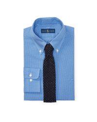 Polo Ralph Lauren | Blue Checked Cotton Poplin Shirt for Men | Lyst