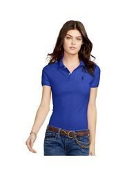 Polo Ralph Lauren - Blue Skinny Fit Big Pony Polo Shirt - Lyst