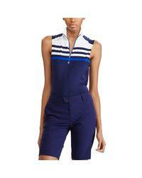 Ralph Lauren Golf - Blue Sleeveless Half-zip Pullover - Lyst