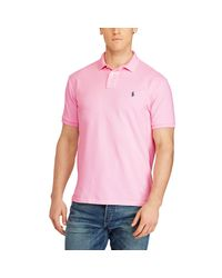 Pink Pony - Pink Classic Weathered Mesh Polo for Men - Lyst