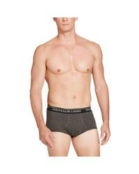Polo Ralph Lauren - Gray Mid-rise Brief 4-pack for Men - Lyst