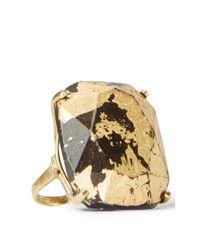 Ralph Lauren | Metallic Gold-foiled Teakwood Ring | Lyst