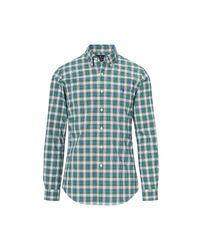 Polo Ralph Lauren | Blue Slim Fit Plaid Cotton Shirt for Men | Lyst