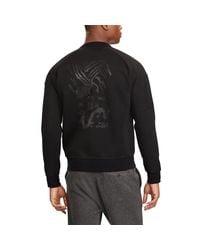Ralph Lauren - Black Bonded Jersey Jacket for Men - Lyst