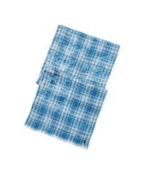 Polo Ralph Lauren | Blue Plaid Linen Scarf for Men | Lyst