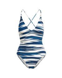 Polo Ralph Lauren - Blue Open-back One-piece - Lyst