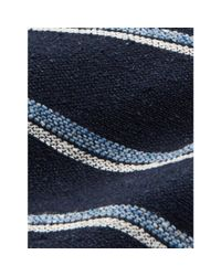 Polo Ralph Lauren - Blue Striped Silk-blend Narrow Tie for Men - Lyst