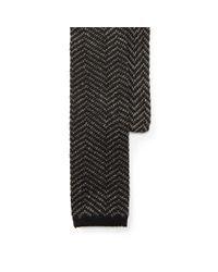 Polo Ralph Lauren. Men's Zigzag Knit Linen-cotton Tie