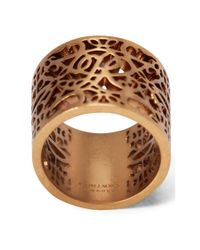 Ralph Lauren - Metallic Gold-plated Barrel Ring - Lyst