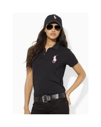 Pink Pony | Black Pink Pony Cotton Polo Shirt | Lyst