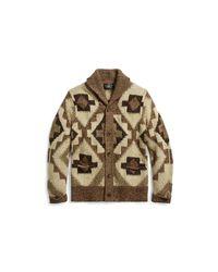 RRL | Brown Hand-knit Linen-blend Cardigan for Men | Lyst