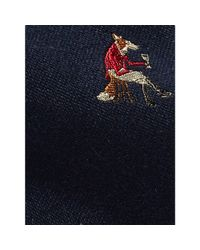 Polo Ralph Lauren - Blue Fox Wool-silk Narrow Tie for Men - Lyst