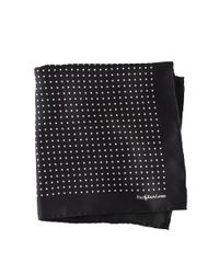 Polo Ralph Lauren | Black Polka-dot Silk Pocket Square for Men | Lyst
