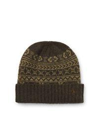 Polo Ralph Lauren - Green Fair Isle Merino Wool Hat for Men - Lyst