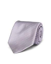 Polo Ralph Lauren - Purple Gingham Silk Narrow Tie for Men - Lyst