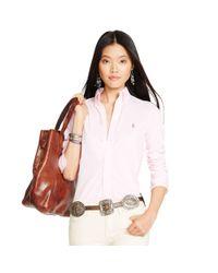 Polo Ralph Lauren - Pink Knit Oxford Shirt - Lyst