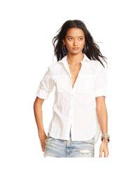 Denim & Supply Ralph Lauren - White Cotton Twill Shirt - Lyst