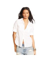 Denim & Supply Ralph Lauren | White Cotton Twill Shirt | Lyst