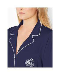 Ralph Lauren | Blue Cotton Jersey Sleep Shirt | Lyst