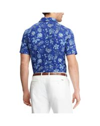 Ralph Lauren - Blue Custom Slim Fit Stretch Polo for Men - Lyst