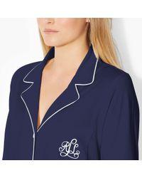 Ralph Lauren - Blue Cotton Jersey Sleep Shirt - Lyst