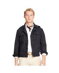 Polo Ralph Lauren | Black Cotton-linen Flight Jacket for Men | Lyst