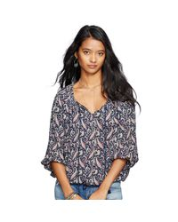 Denim & Supply Ralph Lauren - Multicolor Paisley Tassel-tie Boho Top - Lyst