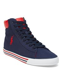 Polo Ralph Lauren | Blue Harvey Canvas Sneaker for Men | Lyst