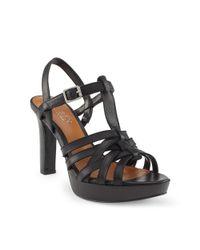 Ralph Lauren | Black Shania Leather Sandal | Lyst
