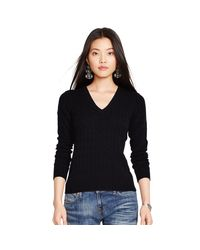 Polo Ralph Lauren - Black Cashmere Sweater Dress - Lyst