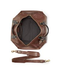 Polo Ralph Lauren - Brown Two Tone Leather Duffle Bag for Men - Lyst